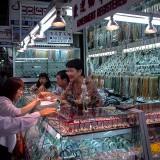 アウンサン・マーケットの宝飾店@ヤンゴン