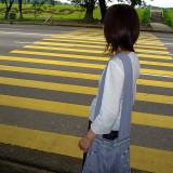 横断歩道は黄色@ミャンマーヤンゴン
