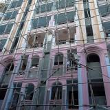 外壁塗装中@ヤンゴンのダウンタウン