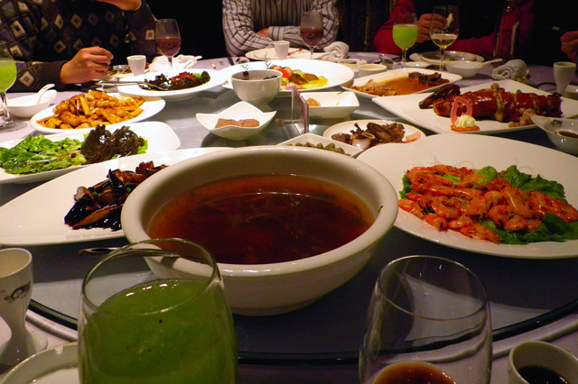 紹興料理の数々 咸亨酒店 2011/01
