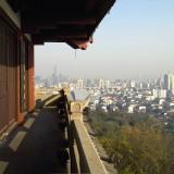 府山公園の飛翼堂から紹興の街を望む