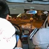 三輪タクシーを拾います@黒竜江省木蘭