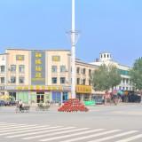 街で一番賑やかな交差点@黒竜江省木蘭