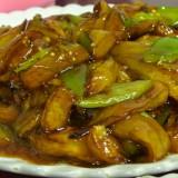 紅焼茄子(なすのしょうゆ炒め煮)@木蘭餃子大王