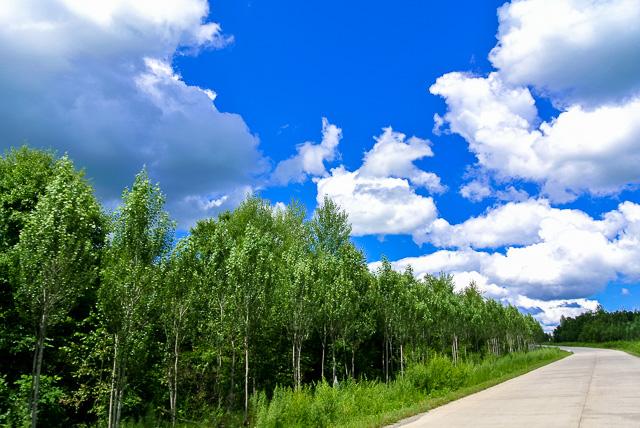北の大地は空が広い@黒竜江省木蘭