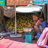 お母さんと一緒にお店番@木蘭青空市場