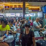 いつの間にか列が増えてる@ハルピン太平国際空港