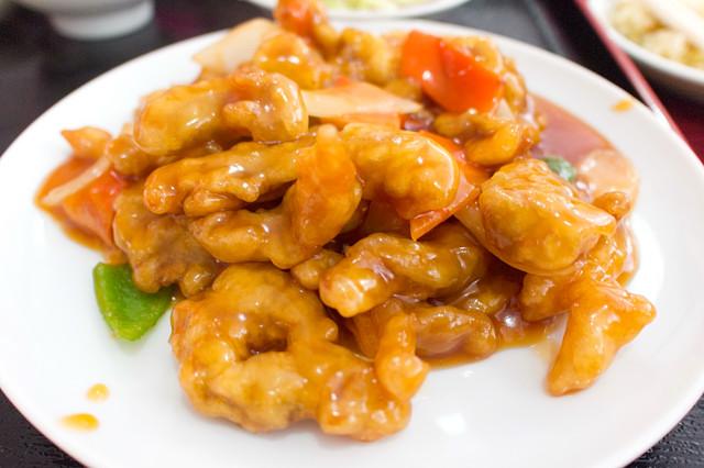 鶏肉の甘酢炒め 上尾の台湾料理店