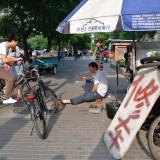 自転車修理のお店@北京