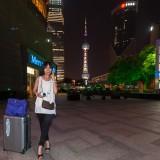東方明珠電視塔(上海テレビ塔)にて