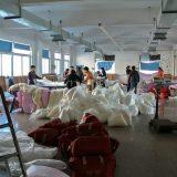 真綿ふとんの縫製場@桐郷の真綿工場
