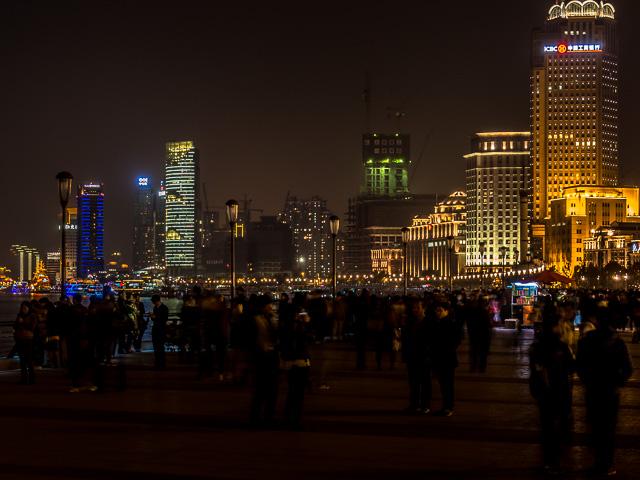 上海外灘の遊歩道