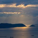 瀬戸内海の夕暮れ@高松屋島